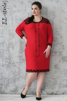 """Платье """"Её-стиль"""" 2021 ЕЁ-стиль (Красный)"""